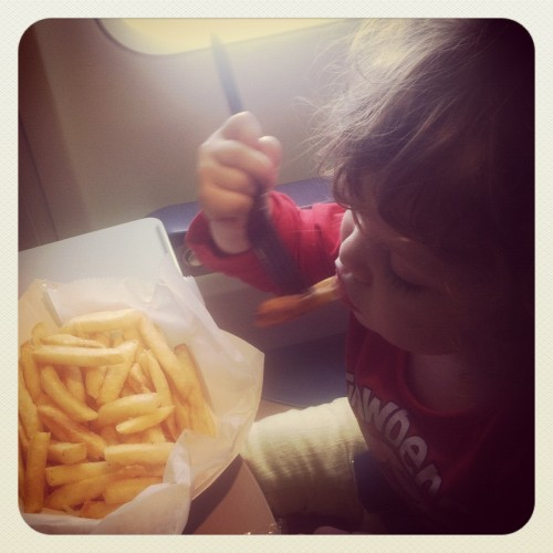 Zoe and fries