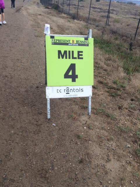 Mile 4 marker