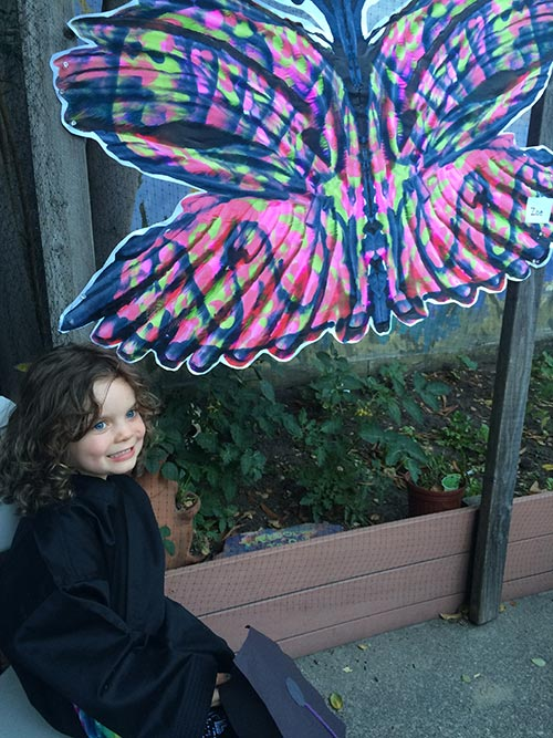 Zoe and butterfly